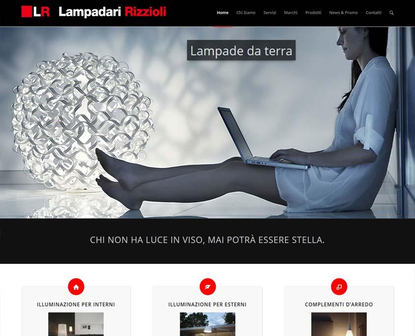 Realizzazione sito web lampadari rizzioli ferrara agenzia di