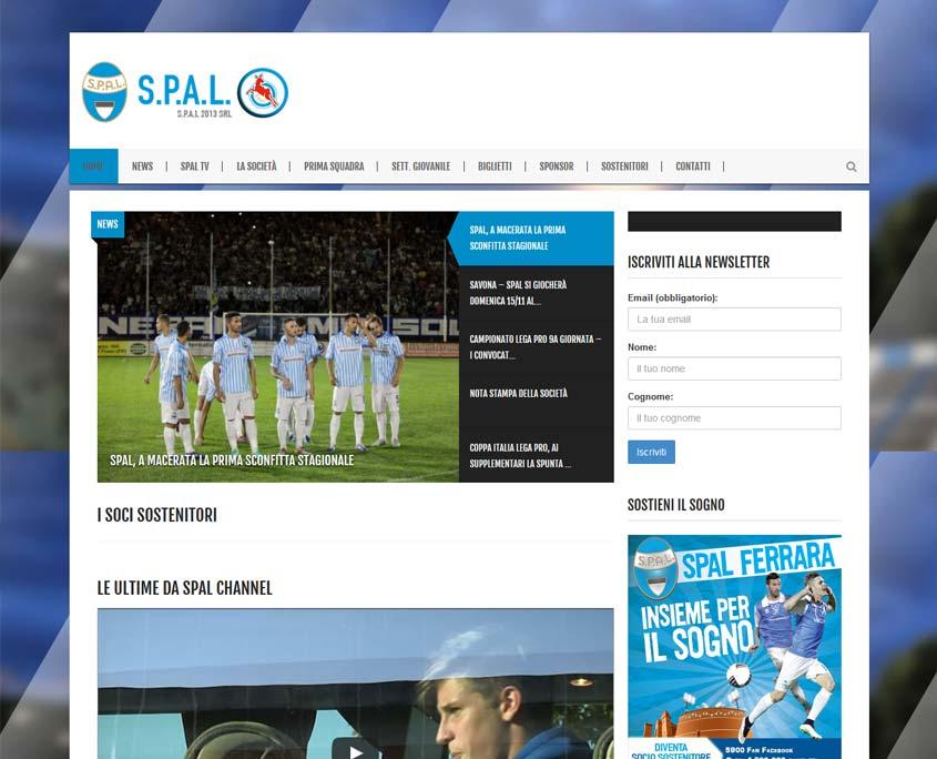 realizzazione sito web sportivo