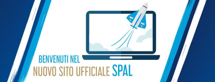 Schermata di benvenuto al nuovo sito SPAL realizzato da Cema Next